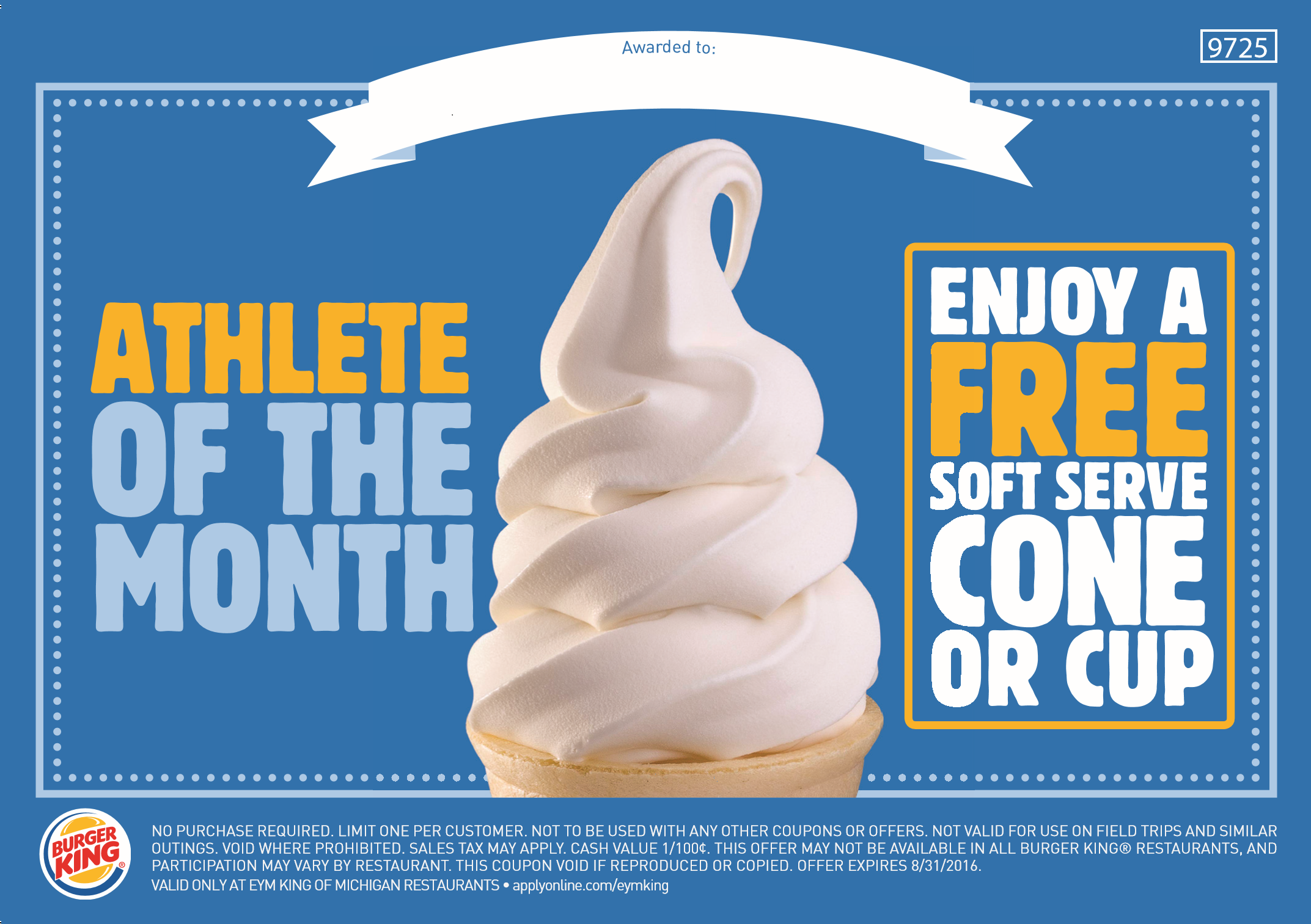 Athelete of the month BK